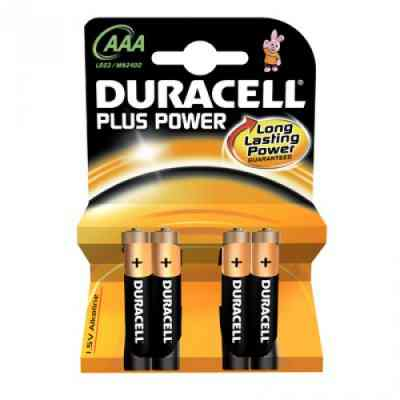 Ver DURACELL pila alcalina Plus Power LR3 AAA PACK 4