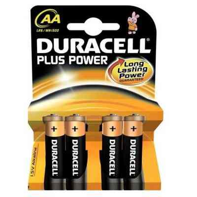 DURACELL pila alcalina Plus Power LR6 AA PACK 4
