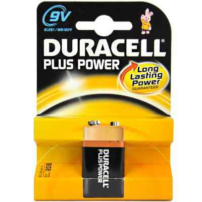 Duracell Pila Alcalina Plus Power Lr61 9v