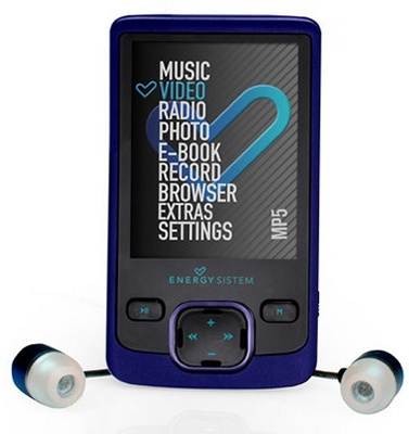 Energy 4108 Indigo Blue Mp5 8gb Ampliable Azul Lpi