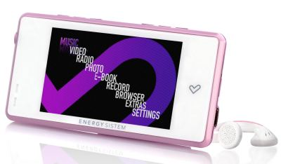 Energy 6031 Reproductor Mp5 8gb Rosa Y Blanco  Lpi