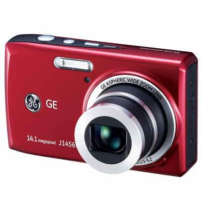 General Electric J1456 Camara Compacta 14m 5x Roja