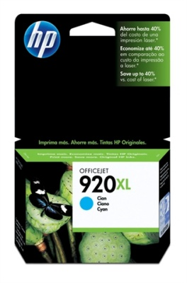 Ver HP 920XL cartucho Cian Officejet serie CD972AE