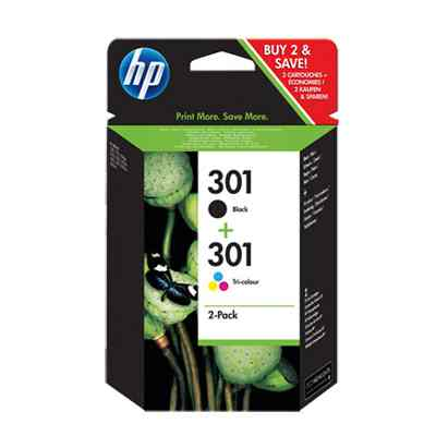 Hp Multipack 1x301 Negro 1x301 Color Cr340