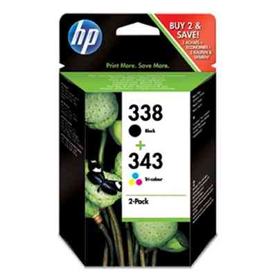 Ver HP SD449EE pack cartuchos negrotricolor HP338343