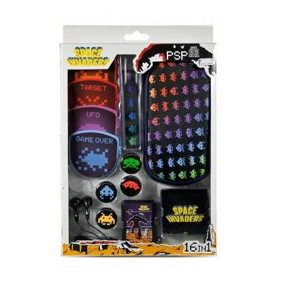 Indeca Kit 16 Accesorios Psp Space Invaders