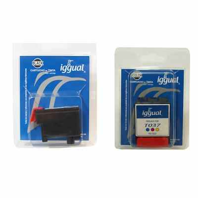 Kit Iggual Cartucho Negro T036 2 Unid   Color T037