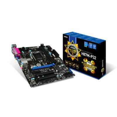 Msi Placa Base H87m P32 Matx Lga1150