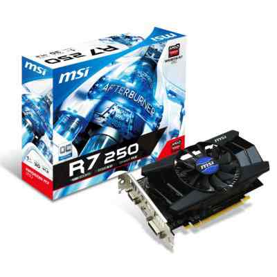 Msi Vga Amd Radeon R7 250 1gd5 Oc 1gb Ddr5