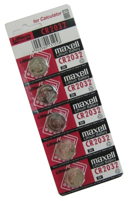 Ver Maxell CR2032 pila 3V Litio Pack 5 unidades