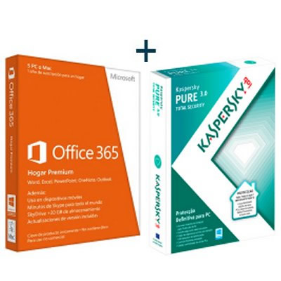 Microsoft Kit Office 365 Prem  Kaspersky Pure 30