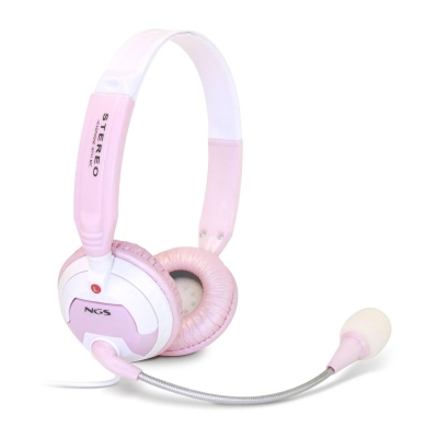 Ngs Msx6pro Pink Auriculares   Microfono Rosa