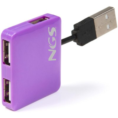 Ngs Purple Microhub 4x Usb 20 Purpura