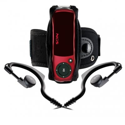Ngs Red Popping Mp3 4gb Fm Rojo