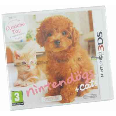 Nintendo Nintendogs Cats 3ds Caniche Toy 3