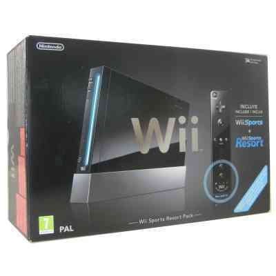 Nintendo Wii Negra  Sports  Sresort  Motionplus