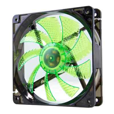 Ver Nox Ventilador Caja Cool Fan 12cm Led Verde