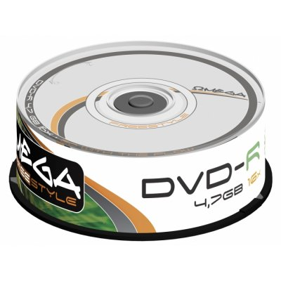 OMEGA FREESTYLE DVD-R 4 7GB 16X TARRINA 25 UNIDAD