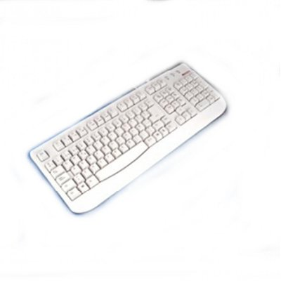 Omega Teclado Mercury Ps2 Blanco