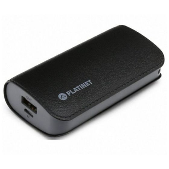 Ver PLATINET POWER BANK 5200mah CUERO NEGRO CABLE