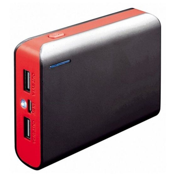 Ver PLATINET POWER BANK 6000mah Rojo Cable Linterna