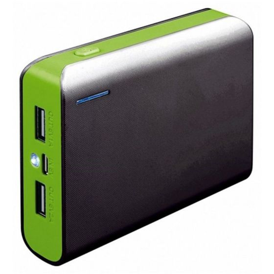 Ver PLATINET POWER BANK 6000mah Verde Cable Linterna