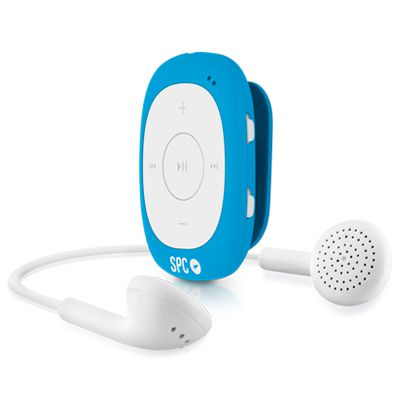 Ver SPC 8584A Reproductor MP3 4GB Radio Clip Azul