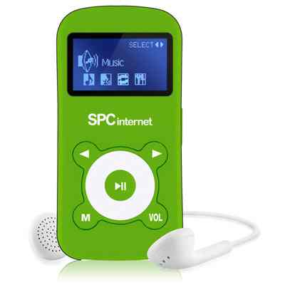 Spc Reproductor Mp3 4gb  Pant1 8214v Verde