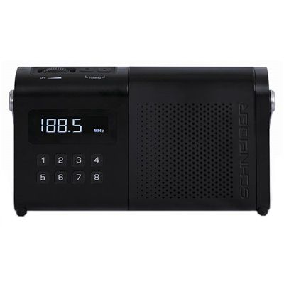 Schneider Radio MOVIMO Negro