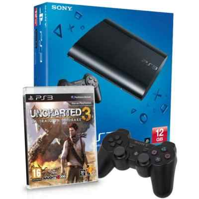 Sony Ps3 12gb Uncharted3 Dual Shock 3