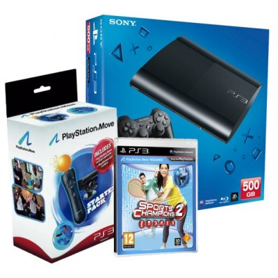 Sony Ps3 500gb Sport Champ2 Move Cam