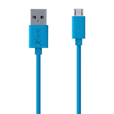 X One CPM1000BL Cable micro USB plano Azul