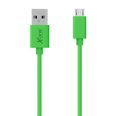 X One CPM1000GR Cable micro USB plano Verde
