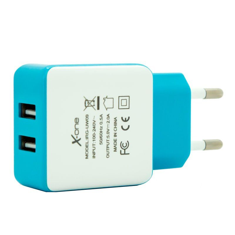 Ver X One Cargador Pared USB 21A Azul