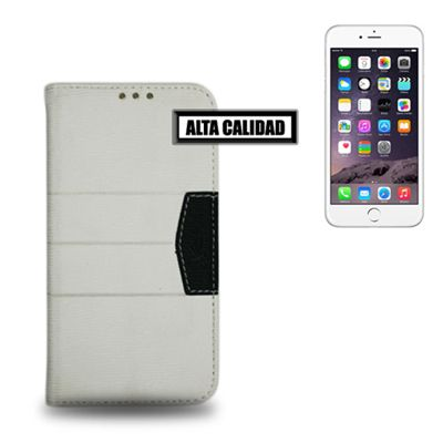 Ver X One Funda Libro Elite iPhone 6 Plus Blanco