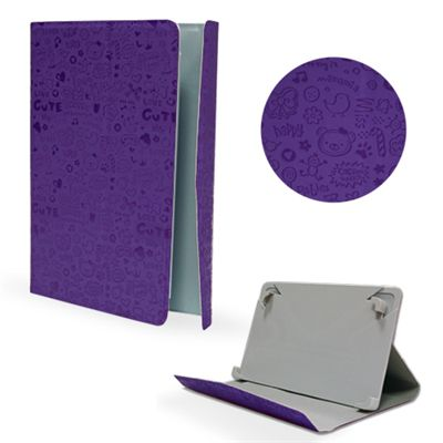 Ver X One Funda Piel Drawing Universal 7 Morado