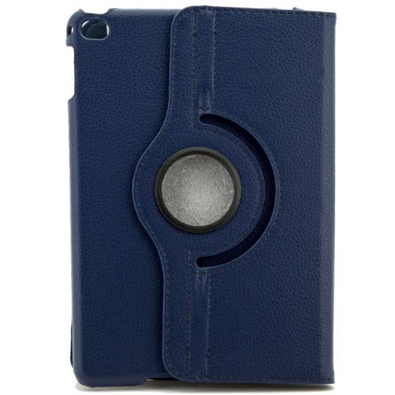X One Funda Piel Rotacion iPad Mini 4 Azul