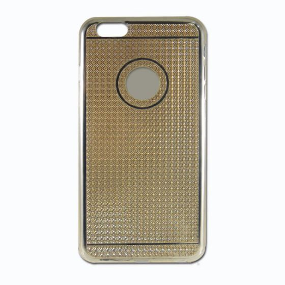 Ver X One Funda TPU Diamante iPhone 6 Plus Dorado