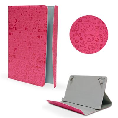 Ver X One Funda Universal Piel Drawing 9 Rosa