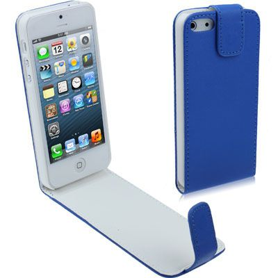 Ver X One Funda de Piel iPhone 5 SE Azul