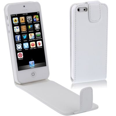 Ver X One Funda de Piel iPhone 5 SE Blanco