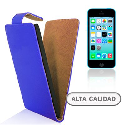 Ver X One Funda de Piel iPhone 5C Azul