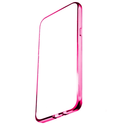 Ver X One TPU Transparente Metal IPhone 7 Rosa