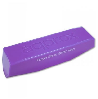 Ver approx APPPB26EVP Pocket Bank 2600 mAh Purpura
