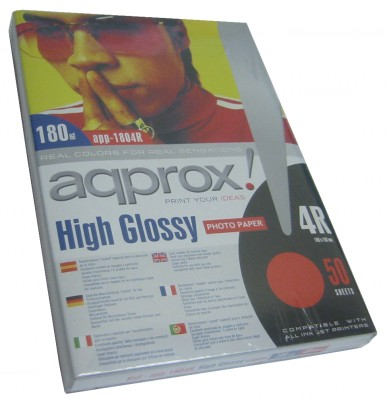 Approx App1804r Papel Foto Glossy 10x15 50h 180g