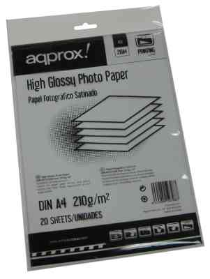 Approx App210a4 Papel Glossy 20 Hojas A4 210g