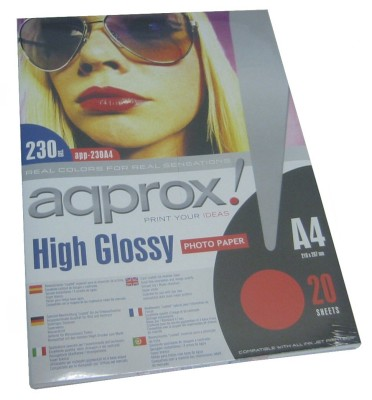 Approx App230a4 Papel Foto Glossy A4 20h 230g