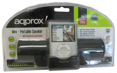 Approx Appsp02b Mini Altavoces Ipodmp3 2w Negro