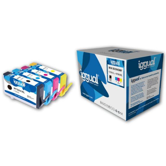 iggual Box Economy HP 364XL BCMY