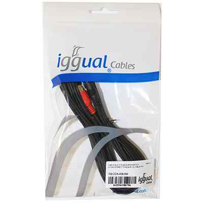 Ver iggual CABLE AUDIO MJACK RCA MM 5Metros